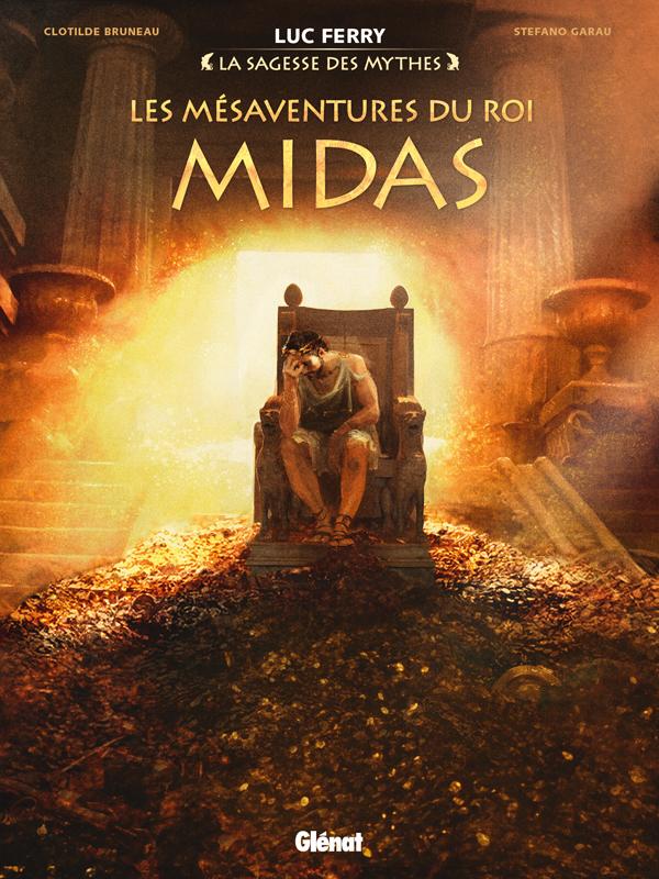 Les Mésaventures du roi Midas, bd chez Glénat de Bruneau, Garau, Ruby, Vignaux