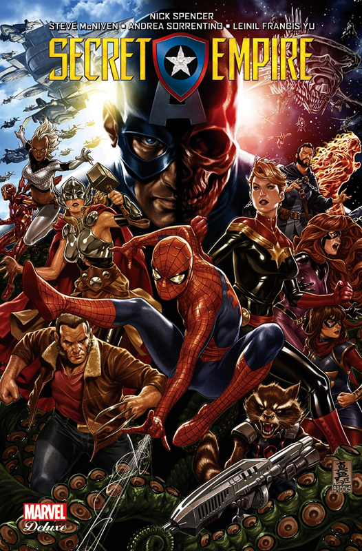 Secret Empire, comics chez Panini Comics de Spencer, Marquez, Izaakse, McNiven, Sorrentino, Acuña, Cassara, Lim, Reis, Yu, Medina, Bennett, Gho, Aburtov, Rosenberg, Wilson, Sanchez Amara, Tartaglia, Brooks
