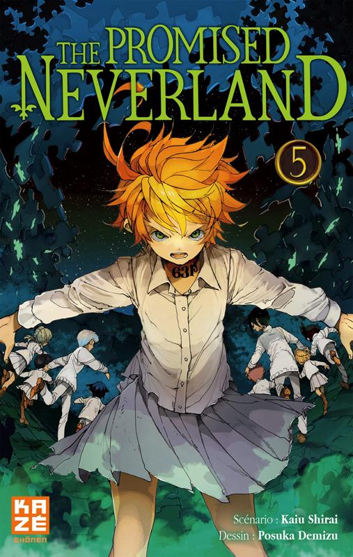 The promised neverland T5, manga chez Kazé manga de Shirai, Demizu