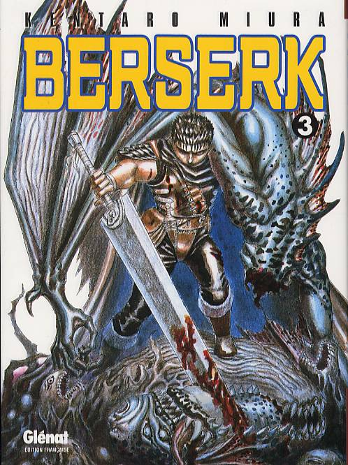 Berserk T3, manga chez Glénat de Miura