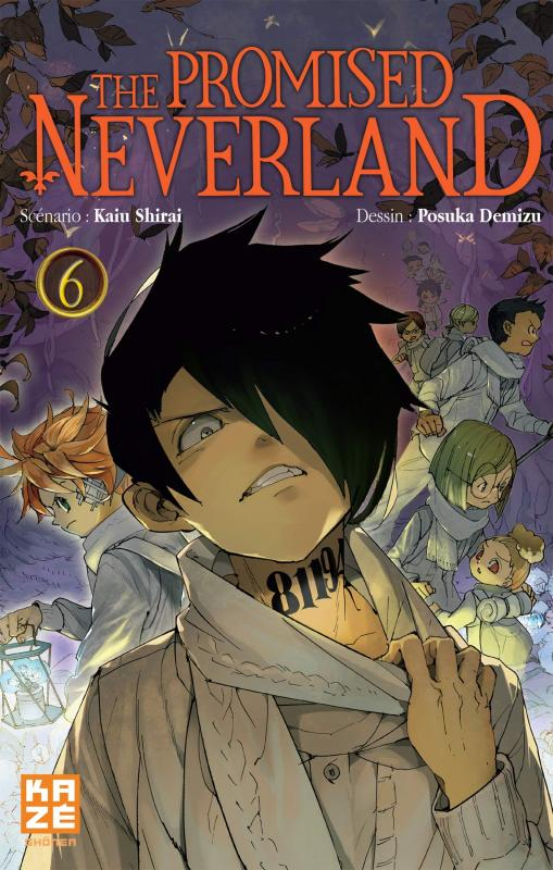 The promised neverland T6, manga chez Kazé manga de Shirai, Demizu