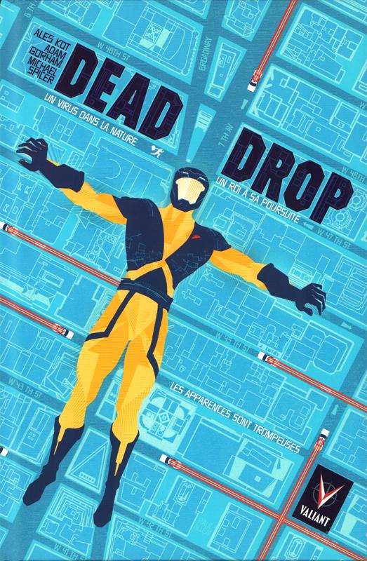 Dead drop, comics chez Bliss Comics de Kot, Gorham, Spicer, Allen
