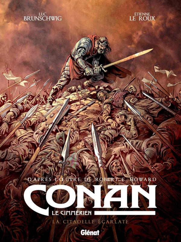 Conan le Cimmérien T5 : La citadelle écarlate (0), bd chez Glénat de Brunschwig, Le  Roux, Hubert