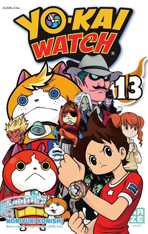 Yo-kai watch  T13, manga chez Kazé manga de Level-5, Konishi