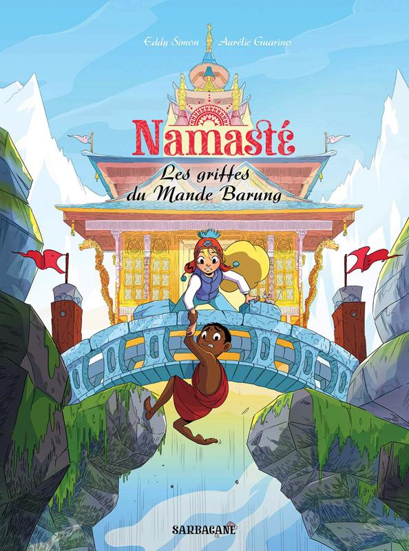 Namaste T4, bd chez Sarbacane de Simon, Guarino, Murat