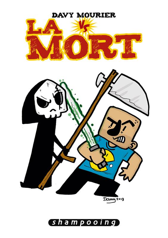 Davy Mourier vs T3 : La mort (0), bd chez Delcourt de Mourier