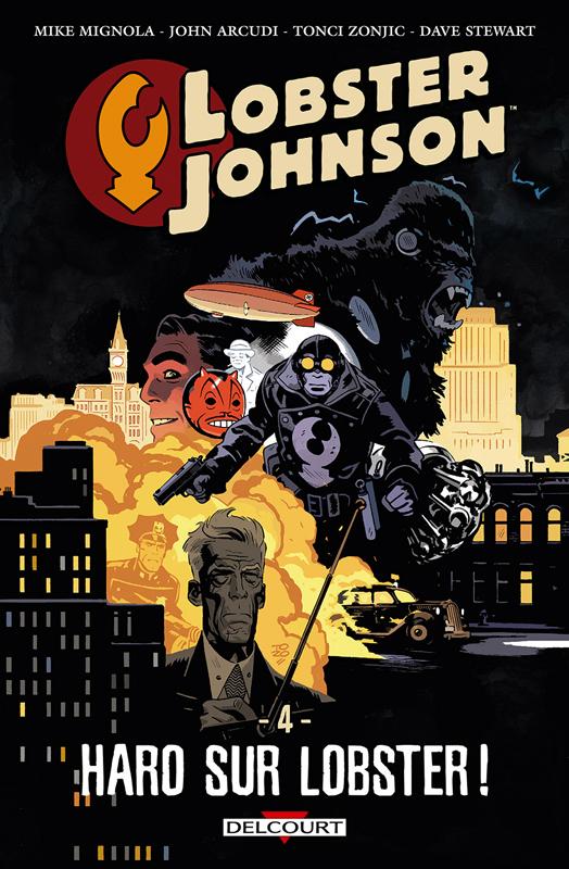 Lobster Johnson T4 : Haro sur Lobster ! (0), comics chez Delcourt de Mignola, Arcudi, Zonjic, Stewart