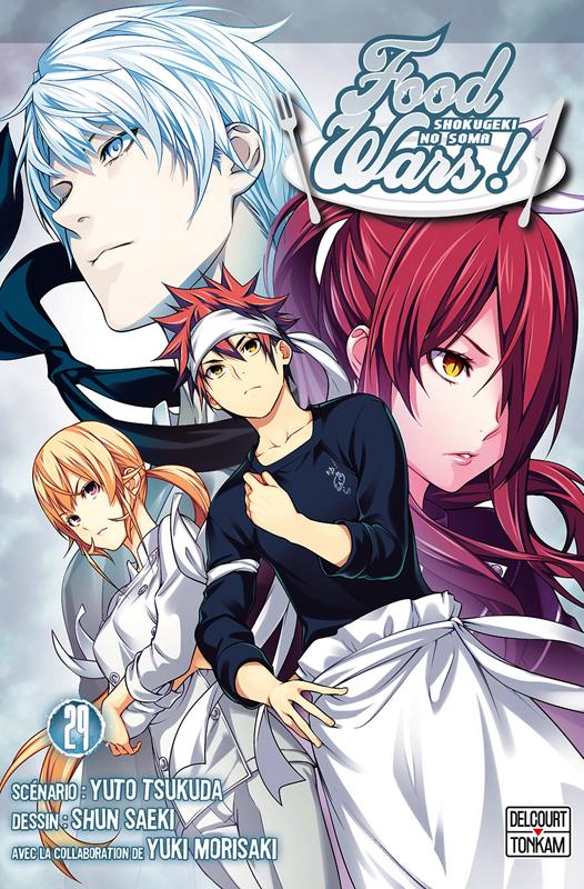 Food wars  T29, manga chez Delcourt Tonkam de Tsukuda, Saeki