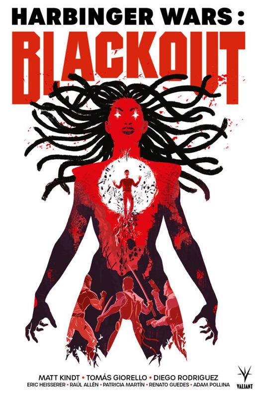 Harbinger Wars: black out , comics chez Bliss Comics de Kindt, Heisserer, Allen, Martin, Guedes, Pollina, Giorello, Pindado, Rodriguez
