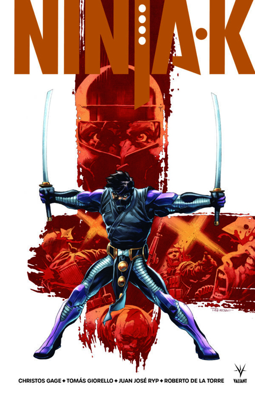 Ninja-k , comics chez Bliss Comics de Gage, Giorello, Stroman, Winn, De La Torre, Juan Jose Ryp, Olivetti, Villarubia, Bellaire, Dalhouse, Rodriguez