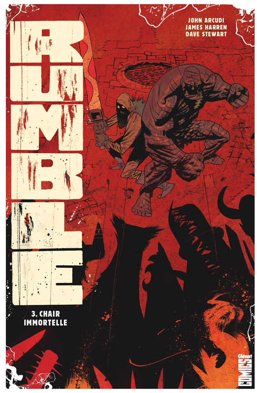 Rumble T3 : Chair immortelle (0), comics chez Glénat de Arcudi, Harren, Stewart