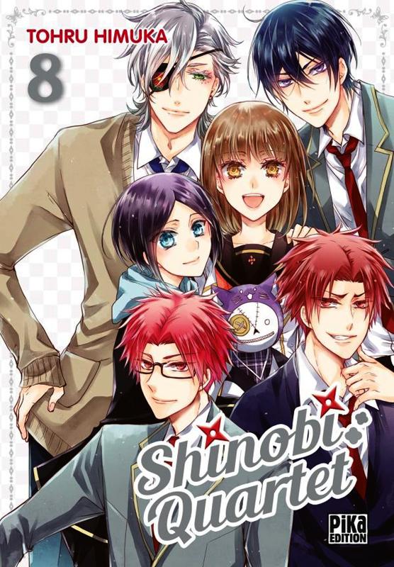Shinobi quartet T8, manga chez Pika de Himuka