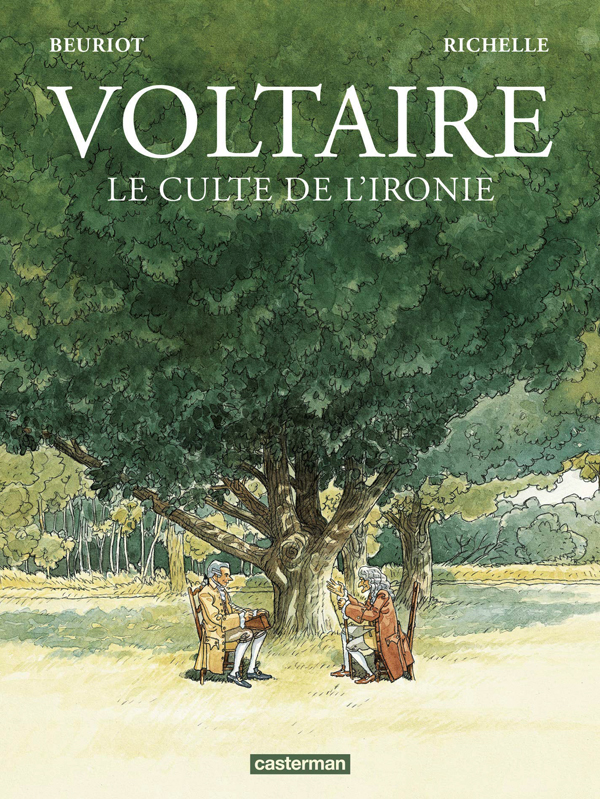 Voltaire : Le culte de l'ironie (0), bd chez Casterman de Richelle, Beuriot