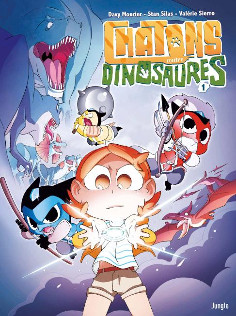 Chatons contre... T1 : Dinosaures (0), bd chez Jungle de Mourier, Silas, Sierro