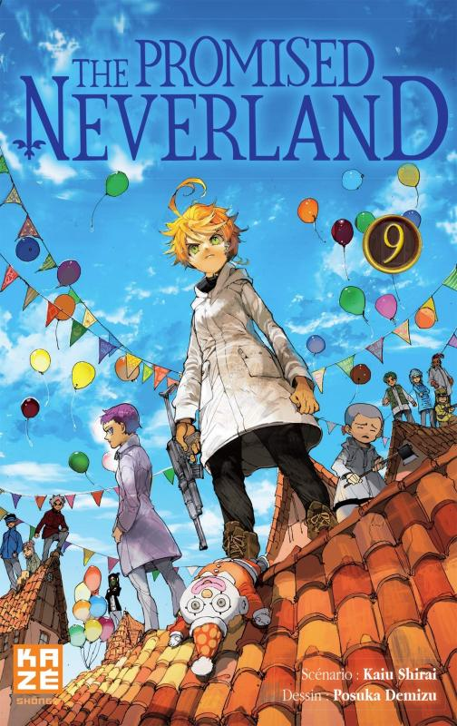 The promised neverland T9, manga chez Kazé manga de Shirai, Demizu