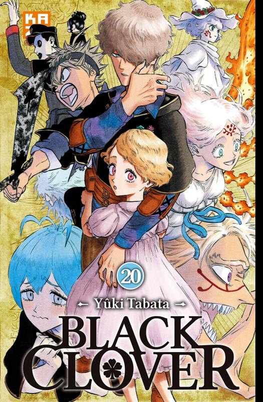 Black clover T20, manga chez Kazé manga de Shonen