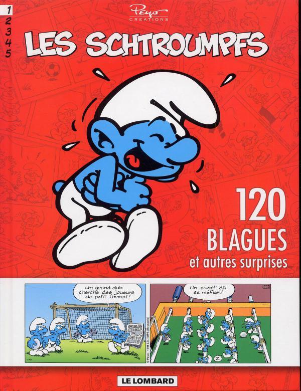 Les blagues de Schtroumpfs T1 : 120 blagues et autres surprises (0), bd chez Le Lombard de Peyo