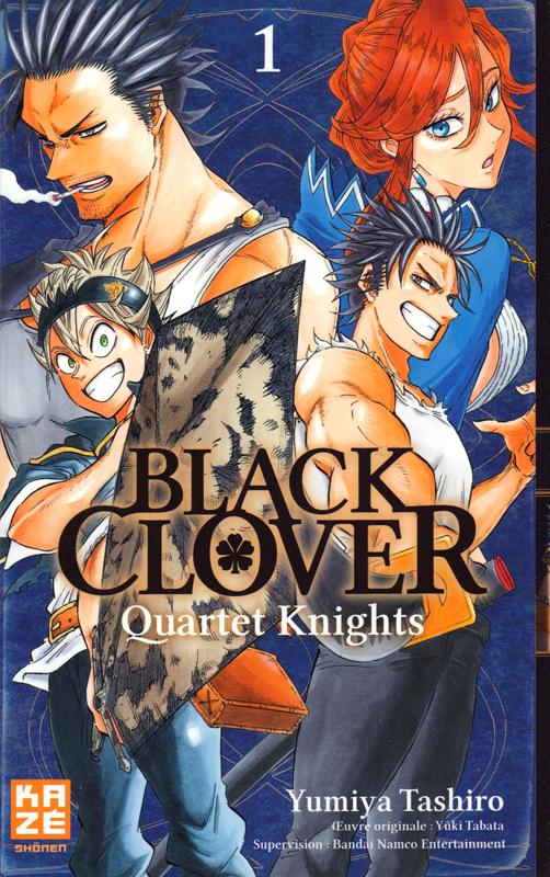 Black clover - Quartet Knights T1, manga chez Kazé manga de Tashiro
