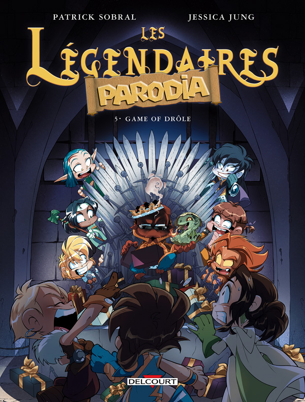 Les Légendaires -Parodia T5 : Game of drôle (0), bd chez Delcourt de Sobral, Jung