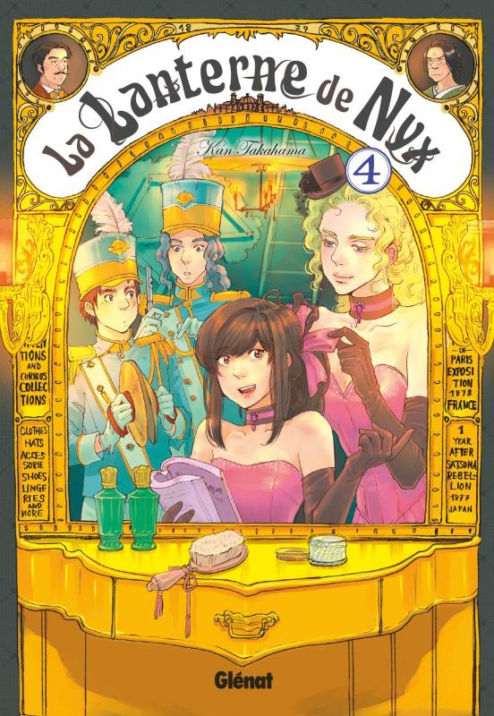 La lanterne de Nyx  T4, manga chez Glénat de Takahama