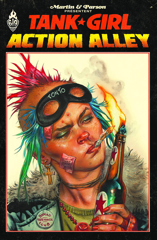 Tank Girl : Action alley (0), comics chez Ankama de Martin, Parson, Staples
