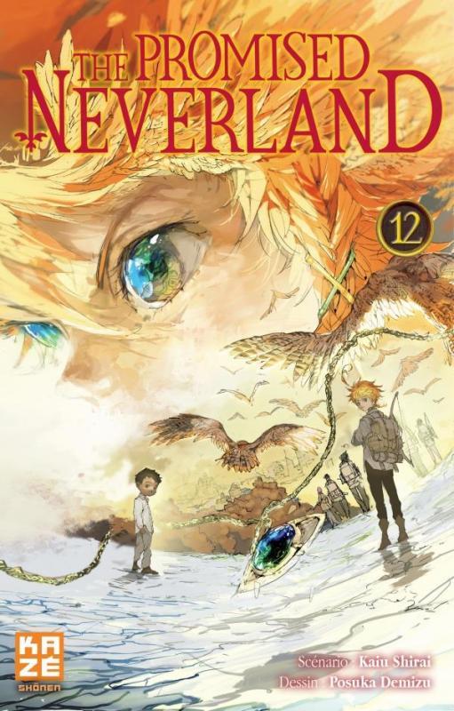 The promised neverland T12, manga chez Kazé manga de Shirai, Demizu