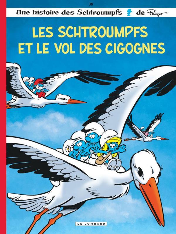 Les Schtroumpfs T38 : Les Schtroumpfs et le vol des cigognes (0), bd chez Le Lombard de Jost, Culliford, Diaz, Culliford