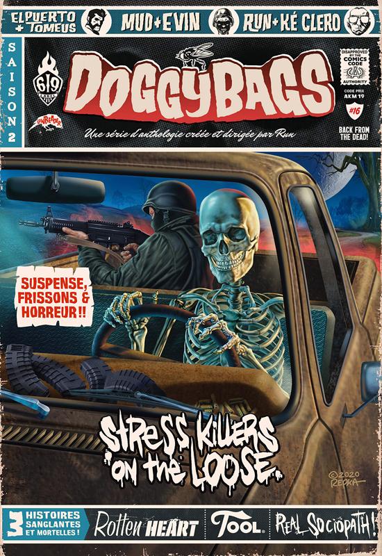 Doggybags T16 : Stress killers on the loose (0), comics chez Ankama de Maudoux, El Puerto, Mandias, Run, Mud, Tomeus, Evin, Montaraza, Clero, Repka