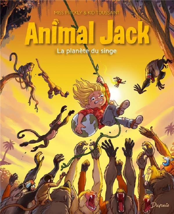 Animal Jack T3 : La planète du singe (0), bd chez Dupuis de Toussaint, Prickly