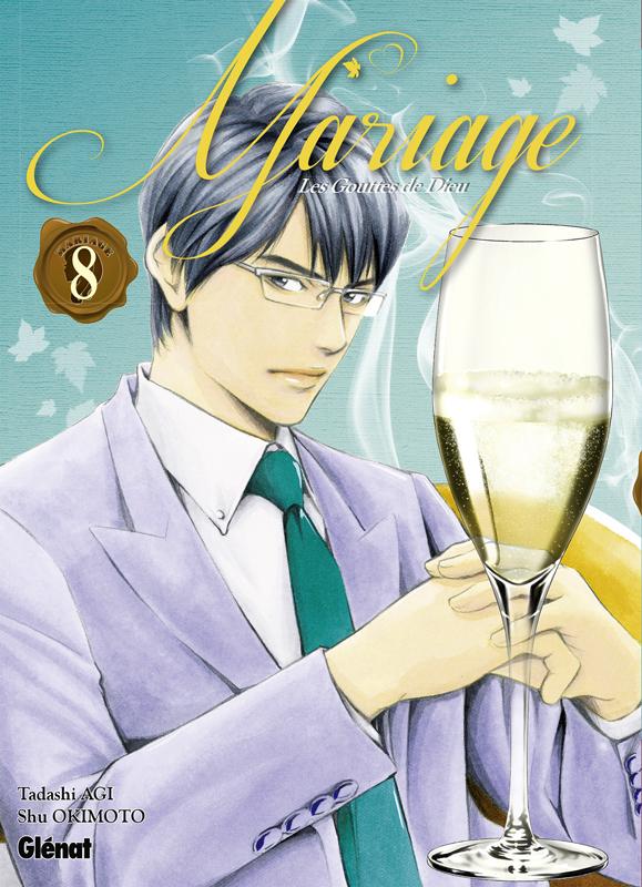 Les Gouttes de dieu - Mariage T8, manga chez Glénat de Agi, Okimoto