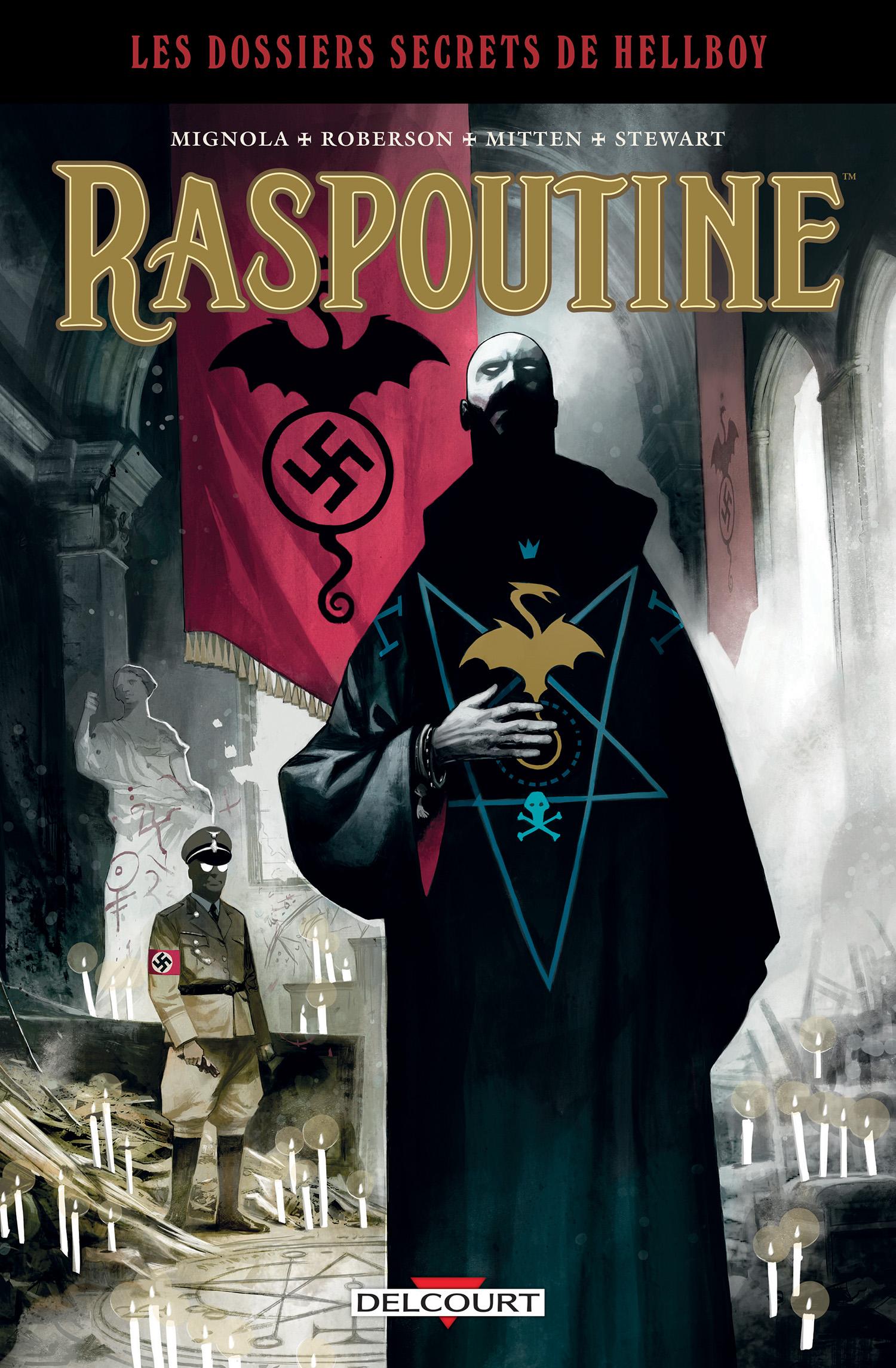 Hellboy : Dossiers secrets : Raspoutine : La voie du dragon (0), comics chez Delcourt de Roberson, Mignola, Mitten, Stewart, Huddleston