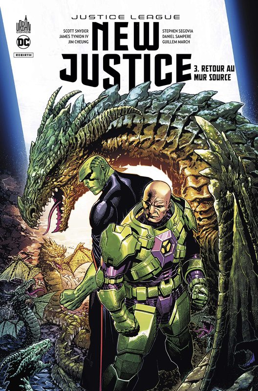 New Justice T3 : Retour au mur source (0), comics chez Urban Comics de Tynion IV, Snyder, Cheung, Segovia, Ferry, Sampere, March, Quintana, Prianto, Lucas, Hi-fi colour, Morey