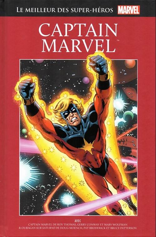 Marvel Comics : le meilleur des super-héros T25 : Captain Marvel (0), comics chez Hachette de Wolfman, Conway, Moench, Thomas, Patterson, Adkins, Kane, Buscema, McLaughlin, Broderick, Boring, Giacoia, Romita Sr, Seani, Wein, Gafford