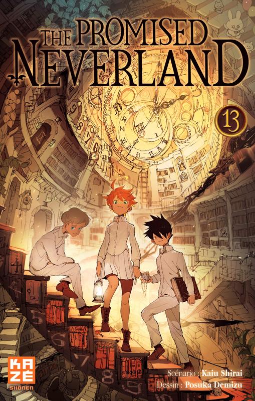 The promised neverland T13, manga chez Kazé manga de Shirai, Demizu