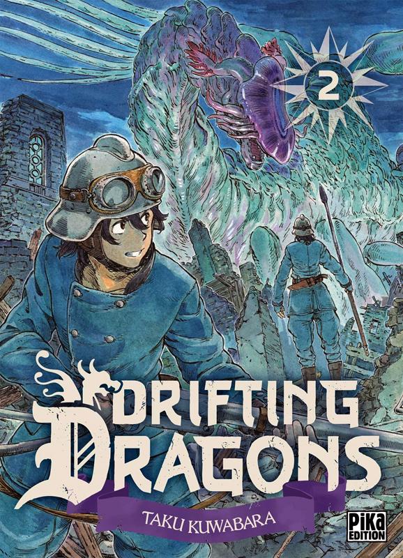 Drifting dragons T2, manga chez Pika de Kuwabara