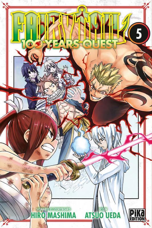 Fairy tail 100 years quest T5, manga chez Pika de Mashima, Ueda