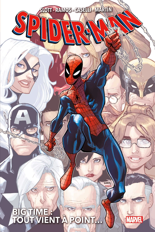 Spider-Man Big Time T1 : Tout vient à point... (0), comics chez Panini Comics de Van Lente, Slott, Edwards, Caselli, Siquiera, Martin, Cliquet, Ramos, Gracia, Hollowell, Vicente, d' Auria, Delgado