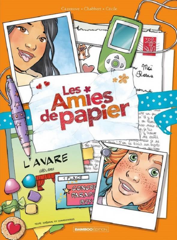 Les Amies de papier T4 : Comme an quatorze (0), bd chez Bamboo de Cazenove, Chabbert, Cécile, Cordurié