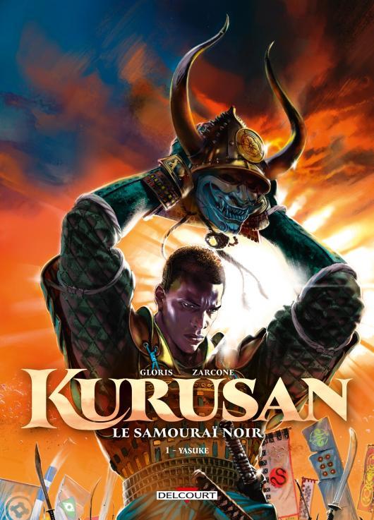 Kurusan, le samurai noir T1 : Yasuke (0), bd chez Delcourt de Gloris, Zarcone, Tatti