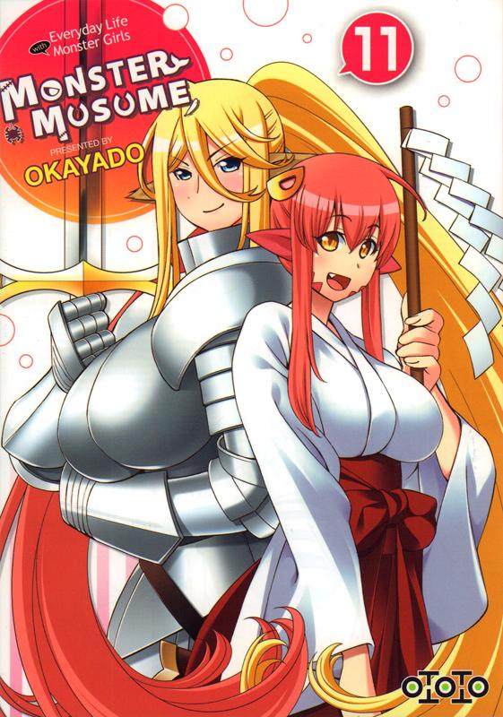 Monster musume T11, manga chez Ototo de Okayado
