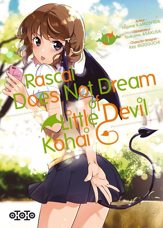 Rascal does not dream of little devil kohai T1, manga chez Ototo de Kamoshida, Kamoshida