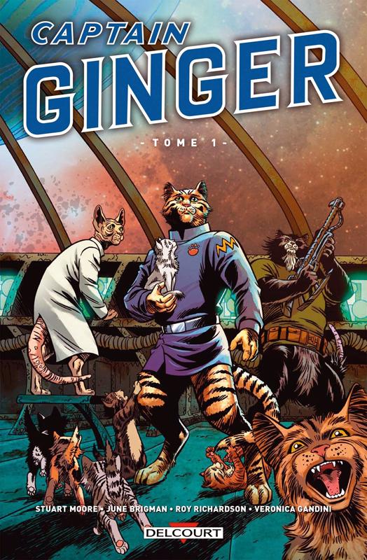 Captain Ginger, comics chez Delcourt de Moore, Richardson, Brigman, Gandini