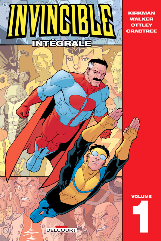 Invincible T1, comics chez Delcourt de Kirkman, Walker, Ottley, Crabtree