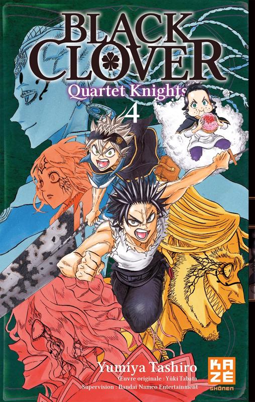 Black clover - Quartet Knights T4, manga chez Kazé manga de Tashiro
