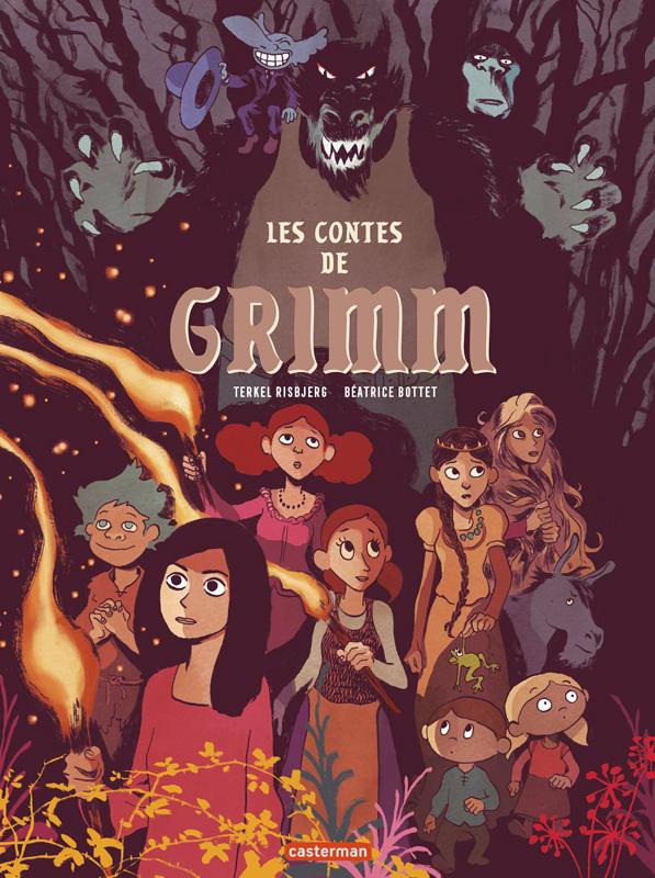 Les Contes de Grimm, bd chez Casterman de Bottet, Risbjerg