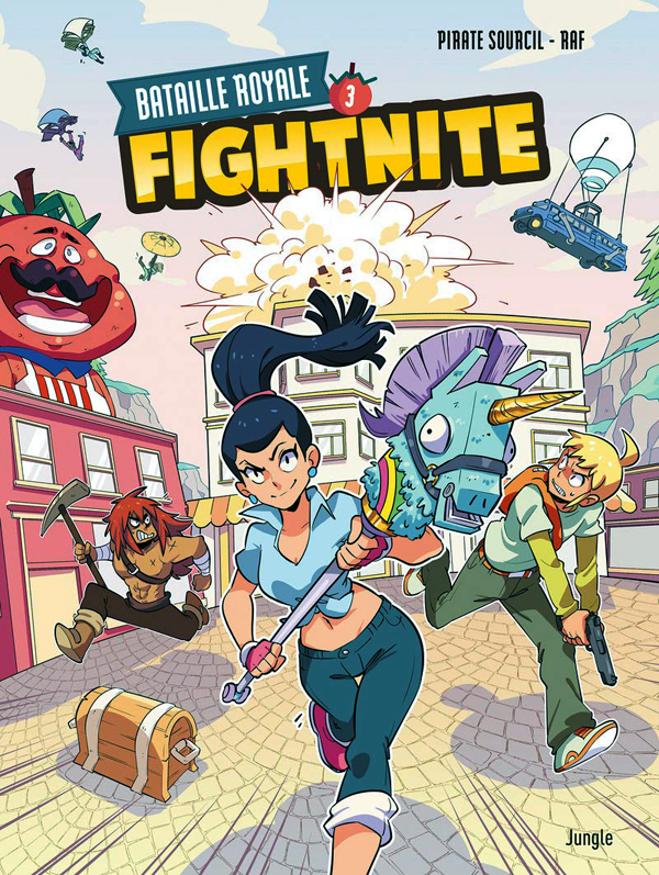 Fightnite T3 : Bataille royale (0), bd chez Jungle de Piratesourcil, Raf, Wenish
