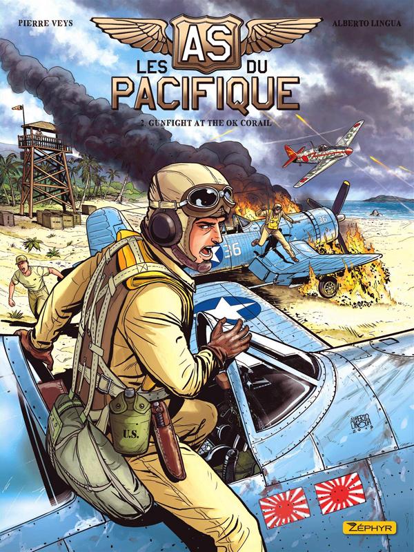 Les As du Pacifique T2 : Gunfight at the Ok Corail (0), bd chez Zéphyr de Veys, Lingua, Le Capon, Formaggio