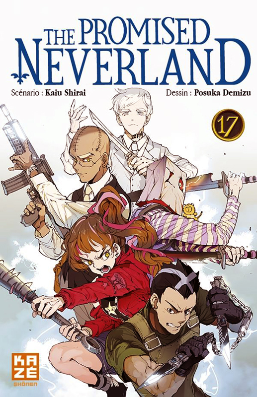 The promised neverland T17, manga chez Kazé manga de Shirai, Demizu