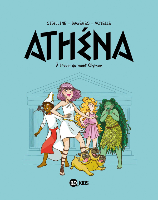 Athéna T1 : A l'école du Mont Olympe (0), bd chez BD Kids de Sibylline, Voyelle
