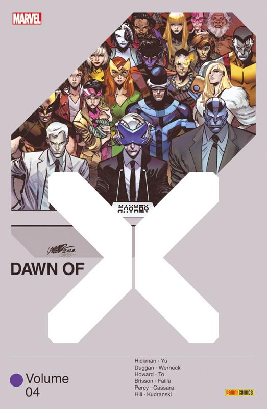 Dawn of X T4, comics chez Panini Comics de Percy, Duggan, Brisson, Hickman, Howard, Hill, To, Kudranski, Cassara, Werneck, Yu, Failla, Alanguilan, Lopez, Blee, White, Gho, Arciniega, d' Armata, Guru efx